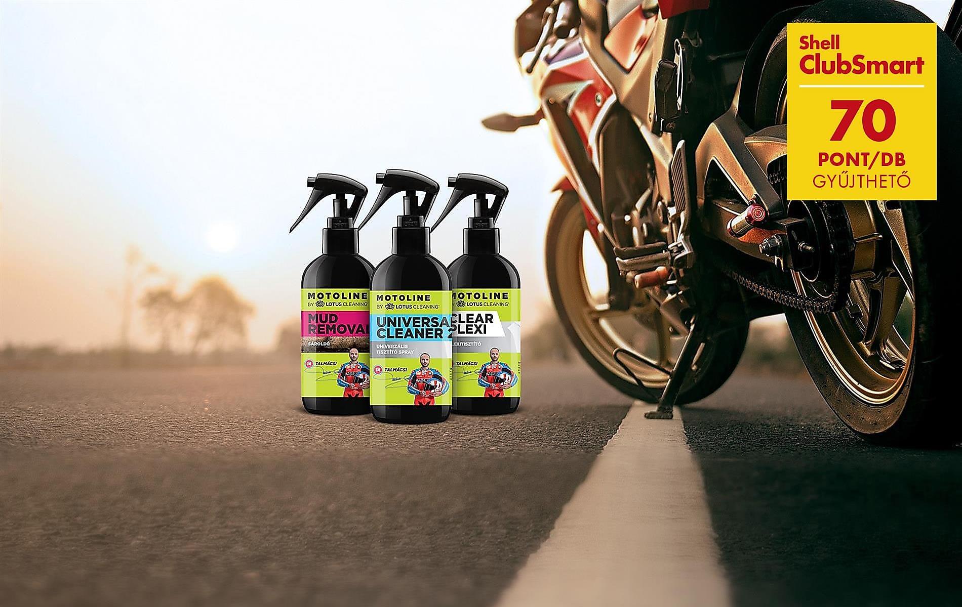 70 ClubSmart pont Motoline motorápoló termékekkel!