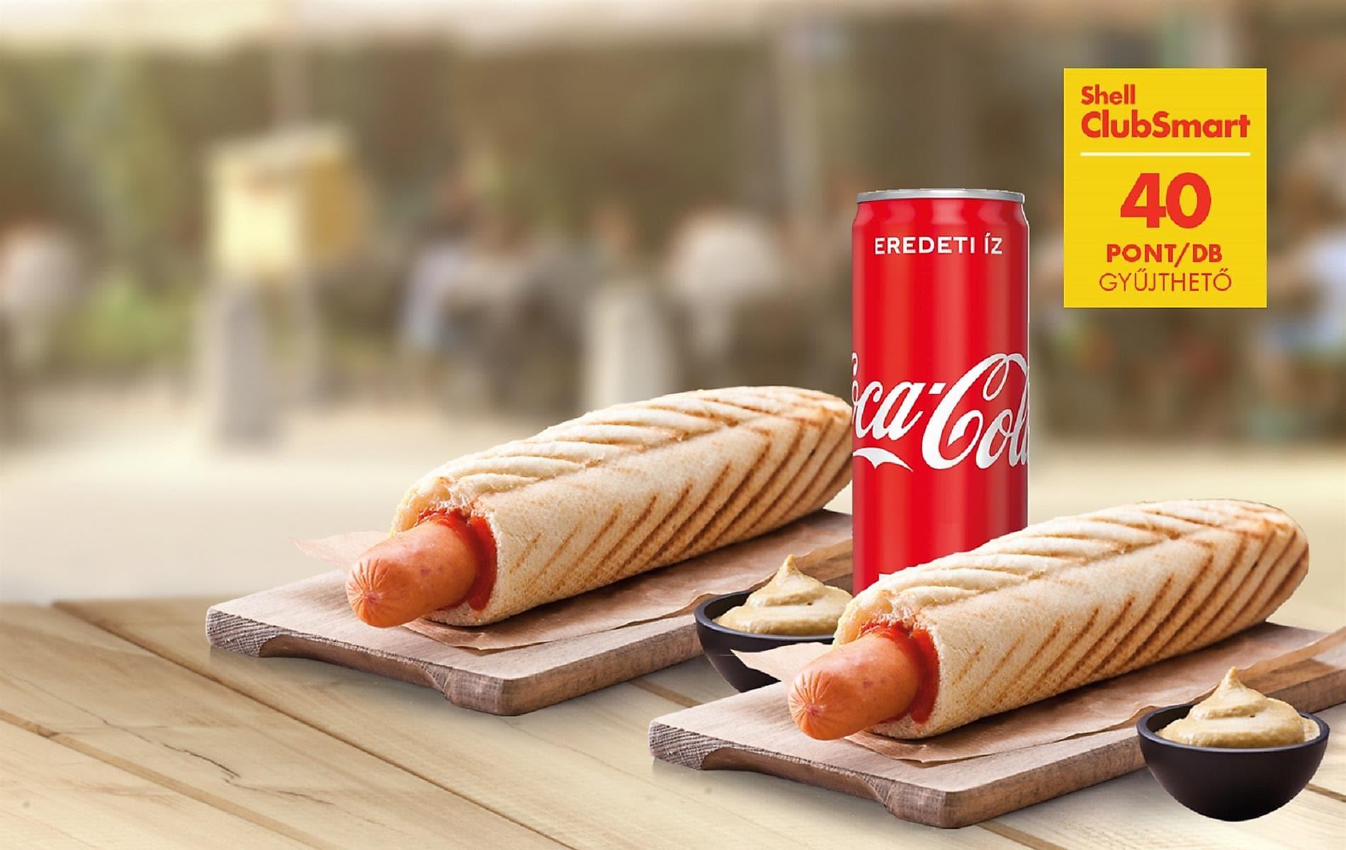 40 pont hotdog+Coca Cola menüre*
